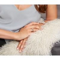 Tchibo Srebrny pierścionek, uszlachetniony rodem, z cyrkonią* 400105038