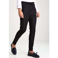 Cream ZARRA Spodnie materiałowe pitch black CR221A033