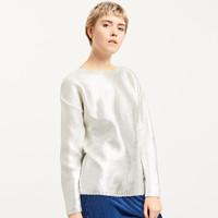 Reserved Sweter z metalicznym połyskiem QR548-01X