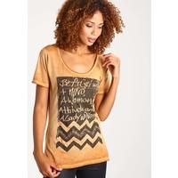 Rich & Royal T-shirt z nadrukiem bright cognac RI521D060