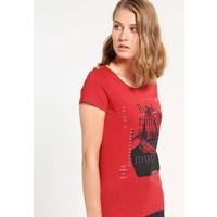 Q/S designed by T-shirt z nadrukiem brick red QS121D0EL