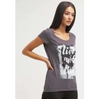Q/S designed by T-shirt z nadrukiem graphit QS121D0DV
