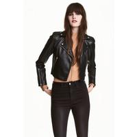 H&M Kurtka w stylu motocyklowym 0458285001 Czarny
