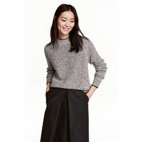H&M Sweter 0461368006 Czarny/Biały melanż