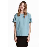 H&M Dżersejowy T-shirt 0456181002 Turkusowy