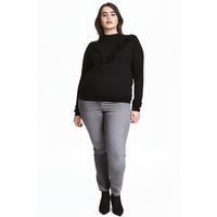 H&M H&M+ Elastyczne spodnie 0352811023 Szary denim