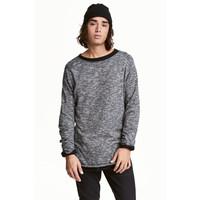 H&M Cienki sweter 0466925003 Czarny melanż