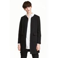 H&M Krótki płaszcz 0434778002 Czarny
