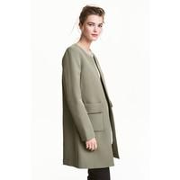 H&M Krótki płaszcz 0434778001 Zieleń khaki
