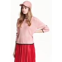 H&M Sweter 0454062001 Różowy