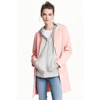H&M Krótki płaszcz 0434778001 Jasnoróżowy