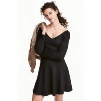 H&M Sweter z odkrytymi ramionami 0446404003 Czarny