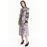 H&M Wzorzysta sukienka 0484187001 Fioletowy/Tygrysy