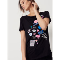 Mohito Koszulka z modnymi naszywkami QT416-99X