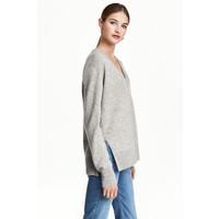 H&M Kaszmirowy sweter 0462560001 Szary melanż