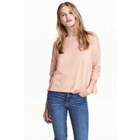 H&M Cienki sweter 0479555011 Pudroworóżowy
