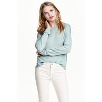 H&M Cienki sweter 0479555011 Jasnoturkusowy