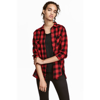 H&M Bawełniana koszula 0457424010 Czerwony/Krata