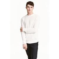 H&M Sweter w strukturalny splot 0438866003 Biały