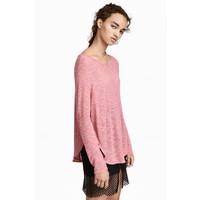 H&M Cienki sweter 0358547002 Różowy