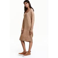 H&M Sweter oversize 0452030001 Beżowy melanż