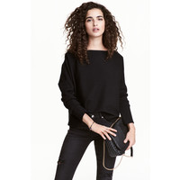 H&M Cienki sweter 0475438003 Czarny