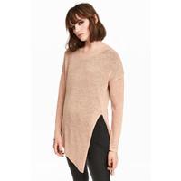 H&M Sweter o luźnym splocie 0398862004 Beżowy