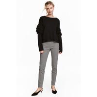 H&M Spodnie cygaretki 0434635015 Czarny/Biały wzór
