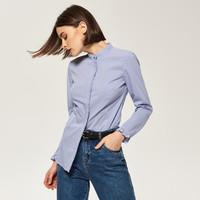Reserved Błękitna koszula w paski QL362-05X
