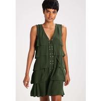 Sisley Sukienka letnia green 7SI21C06H