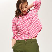 Reserved Koszula w kratę QG043-30X