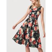 Mohito Kwiecista sukienka z rozkloszowanym dołem RM796-99X