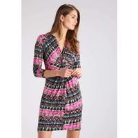 Anna Field Sukienka z dżerseju black/pink AN621CAEF