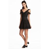 H&M Koronkowa sukienka 0486666001 Czarny