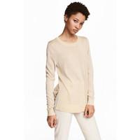 H&M Cienki sweter 0468535002 Jasnobeżowy