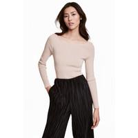H&M Cienki sweter 0468543005 Jasny brązowoszary