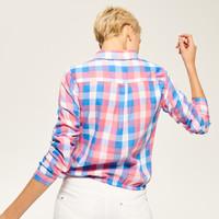 Reserved Krótka koszula w kratę QN591-MLC