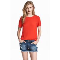H&M Top z krótkim rękawem 0444261004 Czerwony