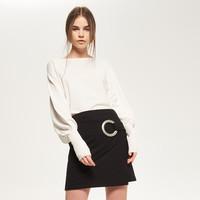 Reserved Sweter z szerokim rękawem QX567-01X