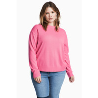 H&M H&M+ Cienki sweter 0445211002 Różowy