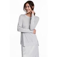 H&M Cienki sweter 0468535002 Srebrny