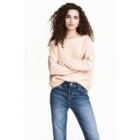 H&M Cienki sweter 0475438002 Pudrowy