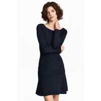 H&M Cienki sweter 0468543005 Ciemnoniebieski