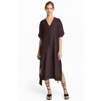 H&M Kimono z domieszką jedwabiu 0531748001 Śliwkowy