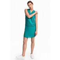 H&M MAMA Sukienka dla karmiącej 0533527003 Turkusowy