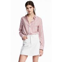 H&M Bawełniana koszula 0510043002 Czerwony/Paski