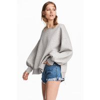 H&M Bluza oversize 0555627001 Szary melanż