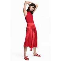 H&M Satynowa spódnica 0553374002 Czerwony