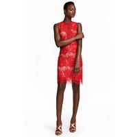 H&M Koronkowa sukienka 0534724001 Czerwony