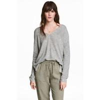 H&M Cienki sweter 0488175004 Szary melanż